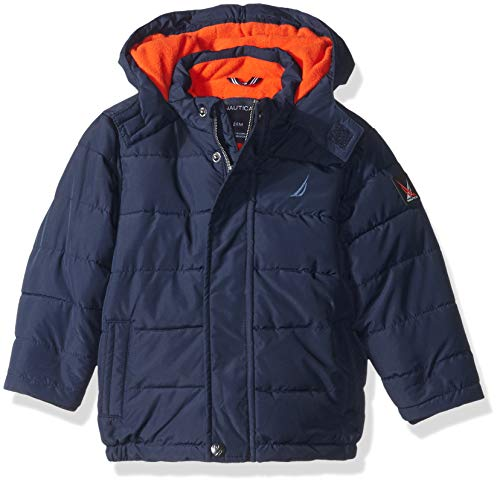 Nautica Baby Boys Signature Puffer Jacket with Storm Cuffs