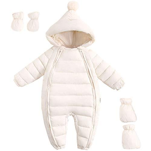 JELEUON 3Pcs Baby Girls Boys One Piece Zipper Down Jacket Winter