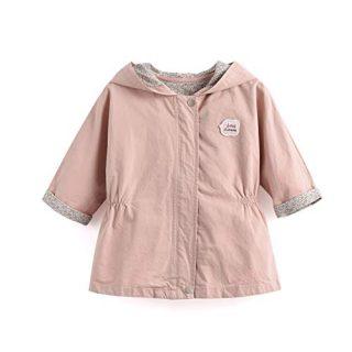Aimama Girls Hooded Parka Toddler Spring Jacket Cotton Overcoat