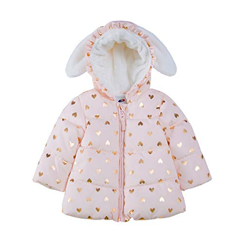 Rokka&Rolla Baby Girls' Water Resistant Soft Mini Fur Lined
