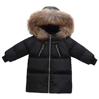 Happy Cherry Baby Girls Coat Winter Jacket Faux Fur Hooded Parka