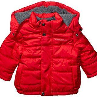 Calvin Klein Baby Boys Eclipse Bubble Jacket, Bright Red