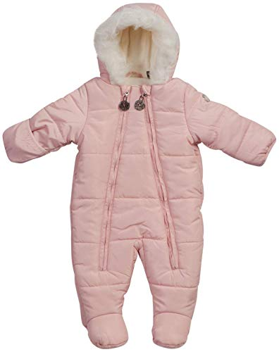 DKNY Baby Girls Cozy Puffer Fully Sherpa Fur Lined Snowsuit Pram