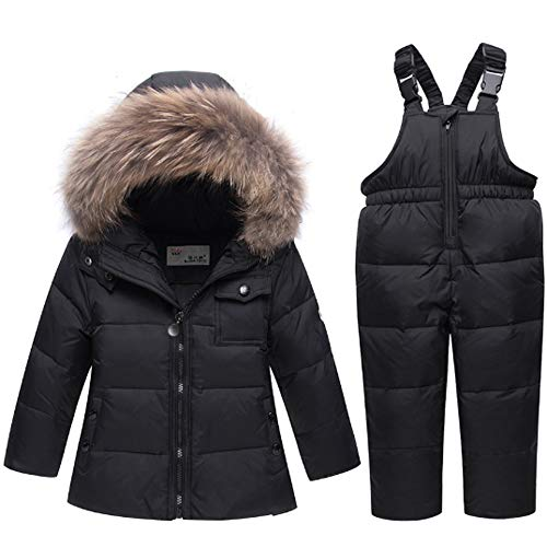 Ding Dong Baby Tollder Kid Boy Girl Winter Hooded Fur Down Parka
