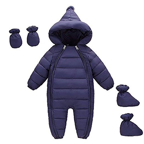 JELEUON 3Pcs Baby Girls Boys One Piece WZipper Down Jacket Winter