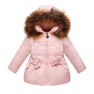 FREE FISHER Baby Boys Girls Bowknot Hooded Snowsuit Winter Warm