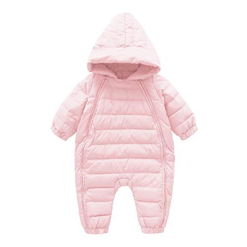 Cnajii Infant Boy Girl Winter Romper Outwear Warm Hood Snowsuit