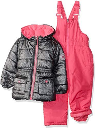 Pink Platinum Girls' Toddler FOIL Print Snowsuit