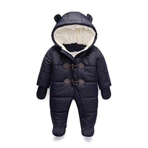 TeenMiro Baby Winter Jumpsuit Newborn Fleece Romper Infant Snowsuit Pattern
