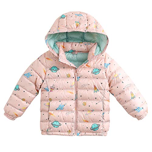 marc janie Girls Boys' Light Weight Down Jacket Packable Removable Hooded