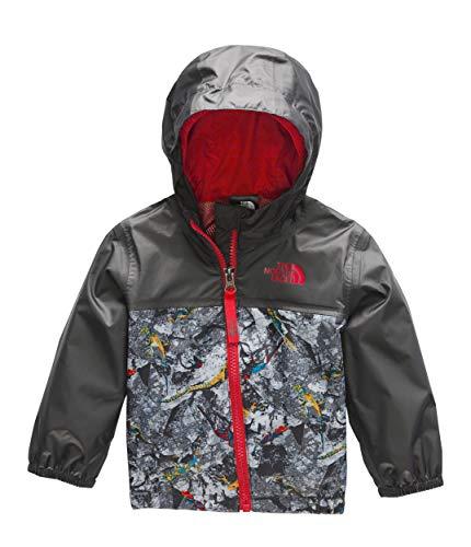 The North Face Infant Zipline Rain Jacket, Graphite Grey Lizard Rock Print