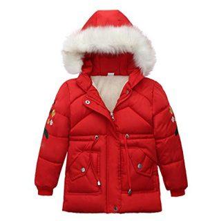 LUCKYMEN Kids Boys Girl Winter Parka Down Coat Puffer Jacket