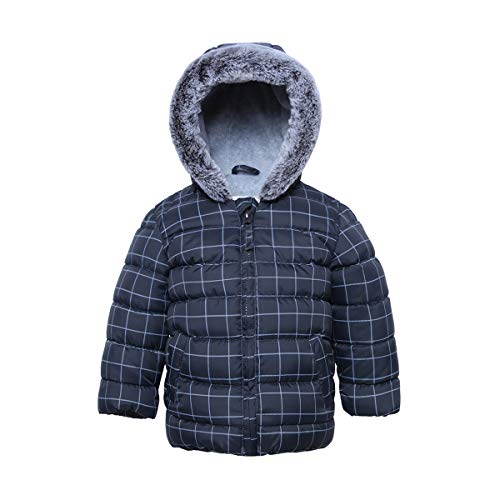 Rokka&Rolla Baby Boys' Water Resistant Soft Fleece Lined Quilted Puffer Jacket