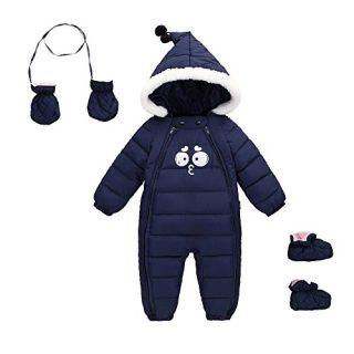 Ohrwurm Down Cotton Baby Romper Baby Winter Zip Coat Cute Baby Snowsuit