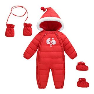 Infant Newborn Baby Hoodie Down Jacket Jumpsuit Snow Suit