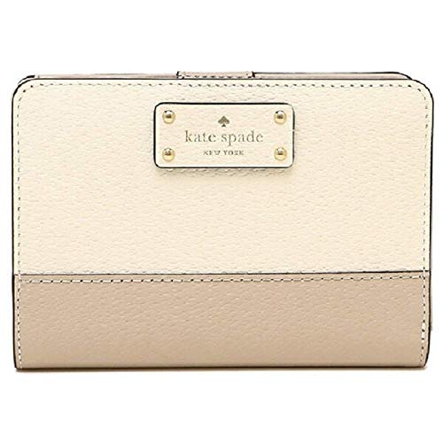 Kate Spade New York Grove Street Tellie Bifold Wallet, Warm Beige/Cement