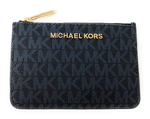 Michael Kors Jet Set Travel Small Top Zip Signature Coin Pouch ID Card Case
