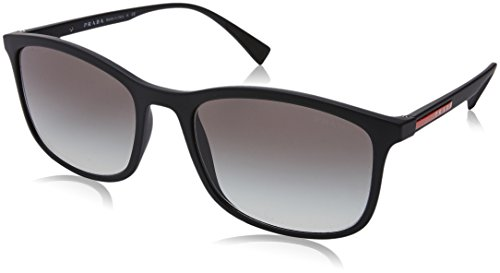 Prada Sport Black Rubber Rectangle Sunglasses Lens Categor