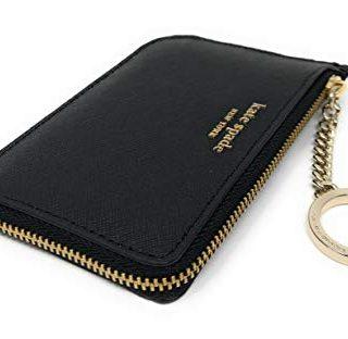 Kate Spade New York Medium L-Zip Card Holder Keychain Black