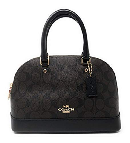 Coach Signature Mini Sierra Satchel Purse (Im/Brown/Black)