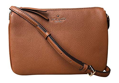 Kate Spade New York Triple Gusset Crossbody, Warm Gingerbread