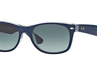 Ray Ban NEW WAYFARER 52M Matte Blue On Transparent/Grey Gradient Sunglasses