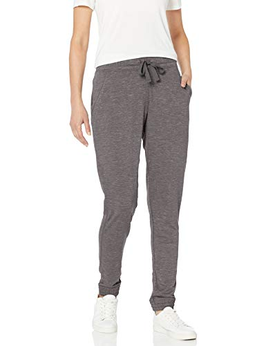 Hanes Women's Jogger with Pockets, Black Heather