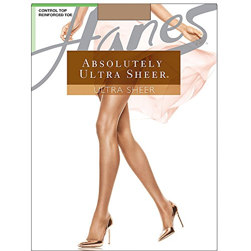Hanes Women`s Set of 3 Absolutely Ultra Sheer Control Top Reinforced Toe B