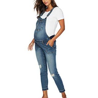 Motherhood Maternity Women's Maternity Indigo Blue Side Panel Skinny Ankle