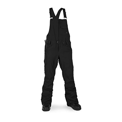 Volcom Women's Swift Bib Overall Snowpant, Black/Black