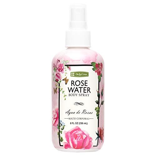 De La Cruz Rose Water Spray, No Parabens or Artificial Colors, Vegan