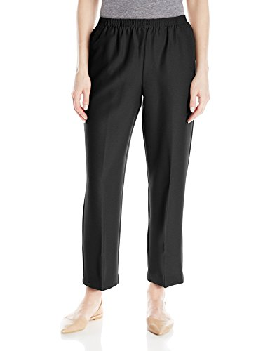 Alfred Dunner Women's Around Elastic Waist Polyester Short Pull-On Style Pants