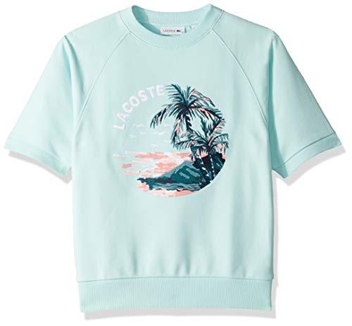 Lacoste Women's S/S Hawaiian Graphic Sweatshirt, Aquarium