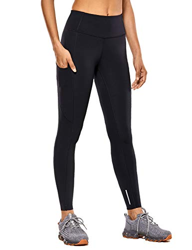 CRZ YOGA Women's High Waisted Yoga Pants with Pockets Naked Feeling Workout