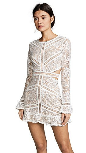 For Love & Lemons Women's Emerie Cutout Dress, White, X-Small