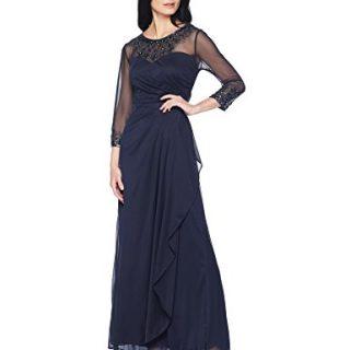 Alex Evenings Women's Long A-Line Sweetheart Neck Dress