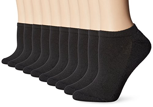 Hanes Women's Multi Pack No Show, Black, Sock Size
