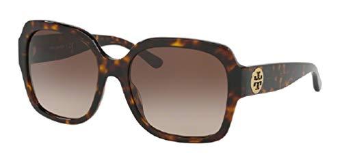 Tory Burch Dark Tortoise/Light Brown Dark Brown Gradient Square Sunglasses
