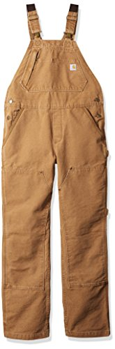 Carhartt Women's Weathered Duck Unlined Wildwood Bib Overalls