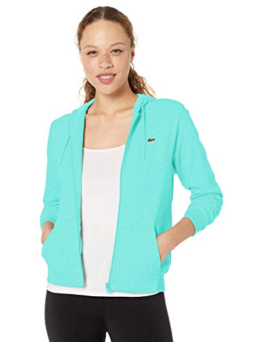 Lacoste Womens Sport Long Sleeve Hooded Fleece Pocket Full Zip Sweatshirt