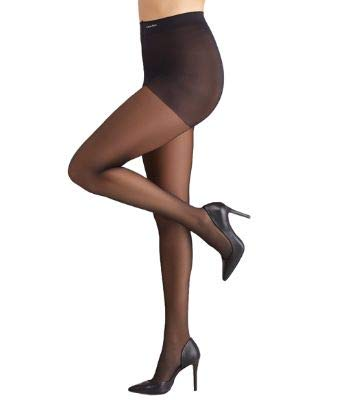 CK Women's Active Sheer Pantyhose with Control Top, Black