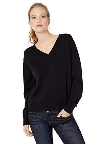 Amazon Brand - Daily Ritual Women's 100% Cotton V-Neck Pullover Sweater