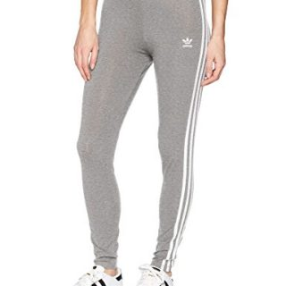 adidas Originals Women's 3 Stripes Legging, Grey Heather