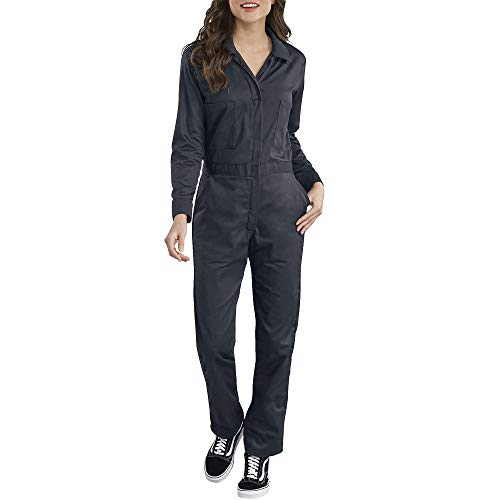 Dickies Women's Long Sleeve Cotton Twill Coverall, Dark Navy, Medium