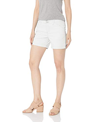 LEE Women's Regular Fit Chino Short, White