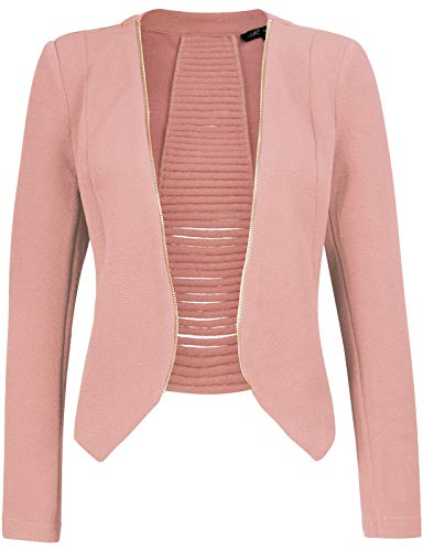 Michel Womens Open Front Cardigan Blazer Jacket Medium