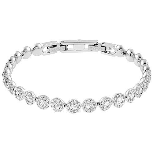 SWAROVSKI Women's Angelic Bracelet, White, Rhodium plated