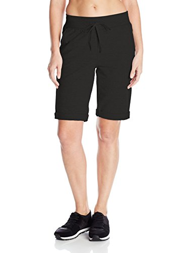 Hanes Women's French Terry Bermuda Short, Black