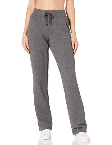 Champion Women's Fleece Open Bottom Pant, Granite Heather, X-Large