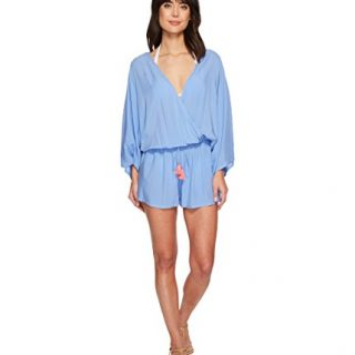 Vince Camuto Riviera Solids Cover-Up Romper Lagoon